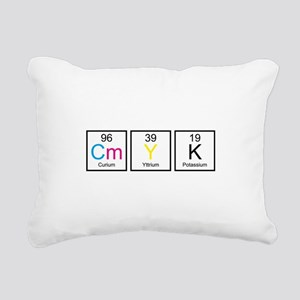 CMYK Elements Rectangular Canvas Pillow