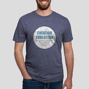 Creation vs Evolution Mens Tri-blend T-Shirt