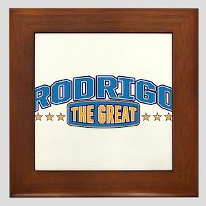 The Great Rodrigo Framed Tile