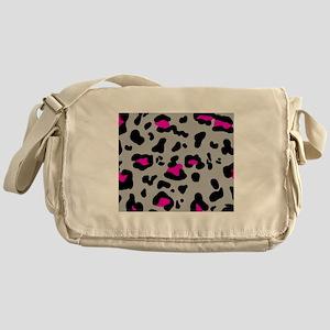 'Leopard Print' Messenger Bag