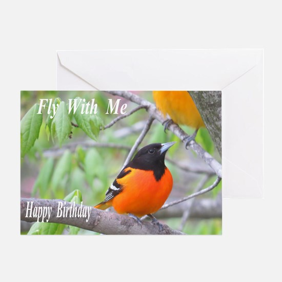 Northern Oriole Greeting Card