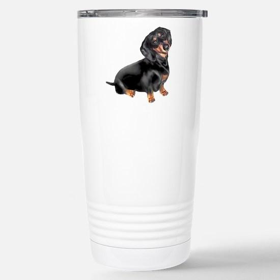 Black-Tan Dachshund Travel Mug
