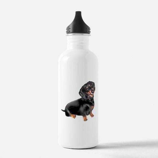 Black-Tan Dachshund Water Bottle