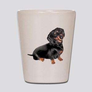 Black-Tan Dachshund Shot Glass