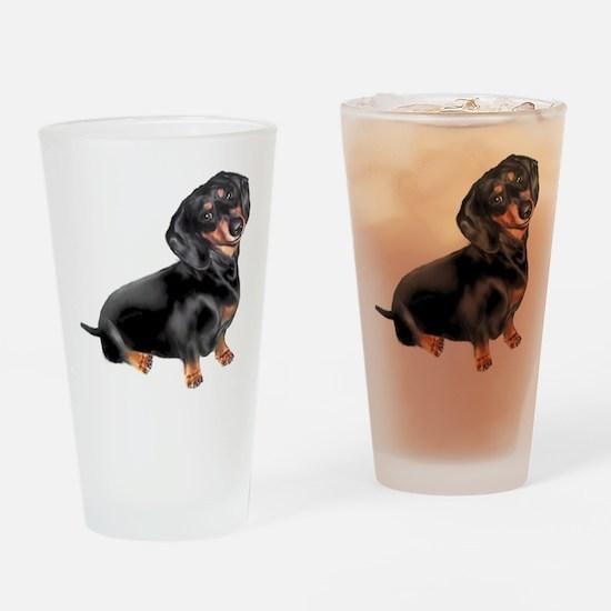 Black-Tan Dachshund Drinking Glass