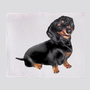 Black-Tan Dachshund Throw Blanket