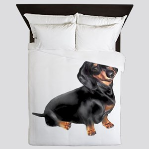 Black-Tan Dachshund Queen Duvet