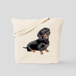 Black-Tan Dachshund Tote Bag