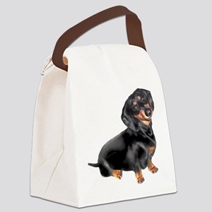 Black-Tan Dachshund Canvas Lunch Bag