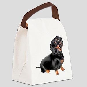 Black-Tan Dachshund Canvas Lunch Bag