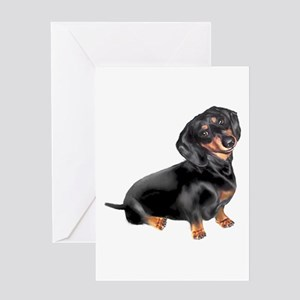 Black-Tan Dachshund Greeting Card