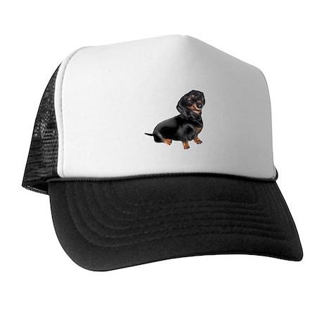 Black-Tan Dachshund Trucker Hat