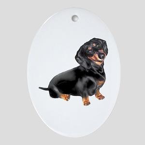 Black-Tan Dachshund Ornament (Oval)