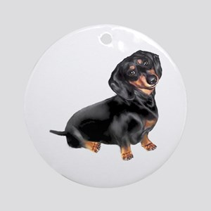 Black-Tan Dachshund Ornament (Round)