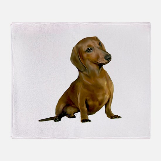 Brown/Red Dachshund Throw Blanket