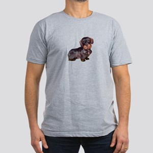Wire Haired Dachshund (#1)q Men's Fitted T-Shirt (