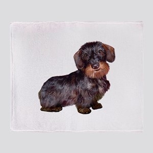 Wire Haired Dachshund (#1)q Throw Blanket