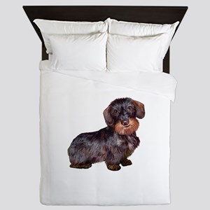 Wire Haired Dachshund (#1)q Queen Duvet