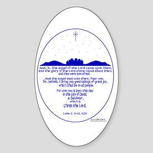 Bethlehem Oval Sticker