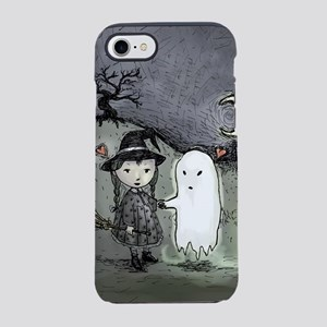 witch-loves-ghost_12x18v iPhone 7 Tough Case