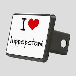 I Love Hippopotami Hitch Cover