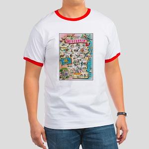 wisconsin map T-Shirt