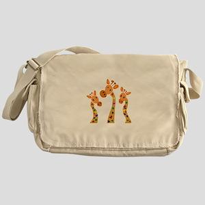 Whimsical Giraffe Art Messenger Bag