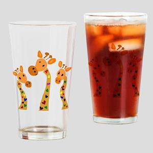 Whimsical Giraffe Art Drinking Glass