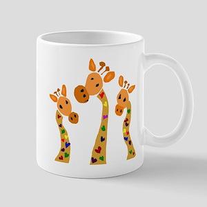 Whimsical Giraffe Art Mug
