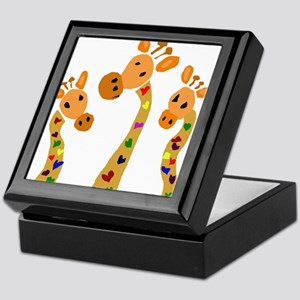 Whimsical Giraffe Art Keepsake Box