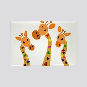 Whimsical Giraffe Art Rectangle Magnet