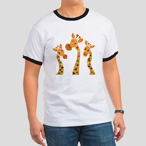 Whimsical Giraffe Art T-Shirt