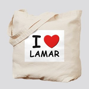 I love Lamar Tote Bag