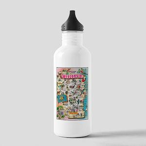 wisconsin map Water Bottle