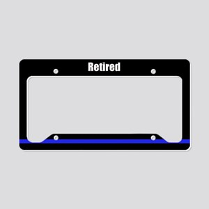Retired Police Officer License Plate Holder
