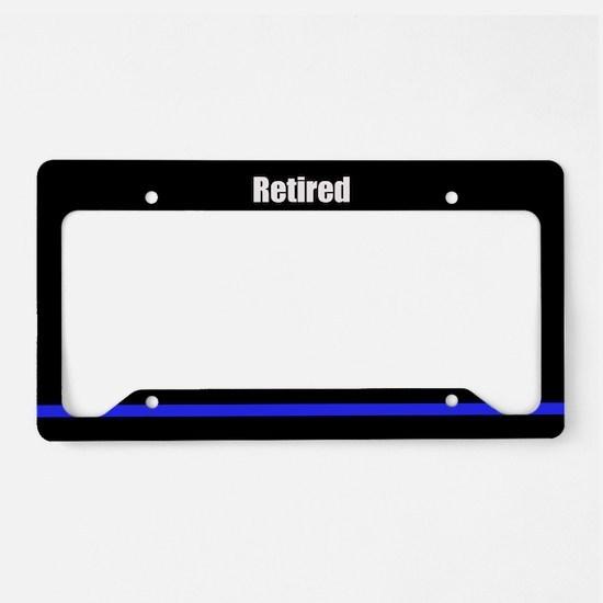 Retired Police Officer License Plate Holder