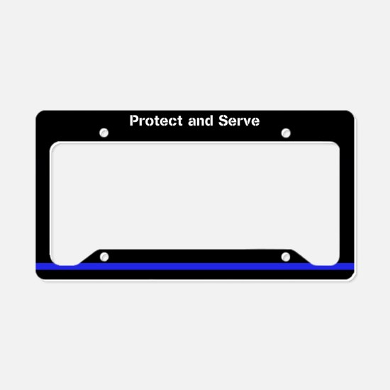 Protect And Serve License Plate Holder