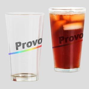 Vintage Provo Rainbow Drinking Glass
