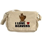 I Love Beavers Messenger Bag