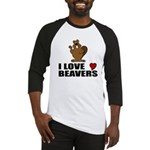 I Love Beavers Baseball Jersey