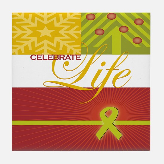 Celebrate Life Holiday Collection Tile Coaster