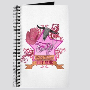 CowGirl Wild Thing edit name text Pink Hat Journal