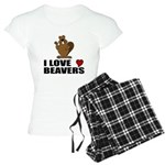 I Love Beavers Pajamas