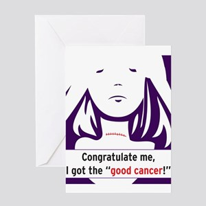 the good cancer woman Greeting Card