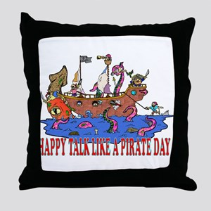 Happy Talk like A Pirate Day Throw Pillow