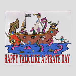 Happy Talk like A Pirate Day Throw Blanket