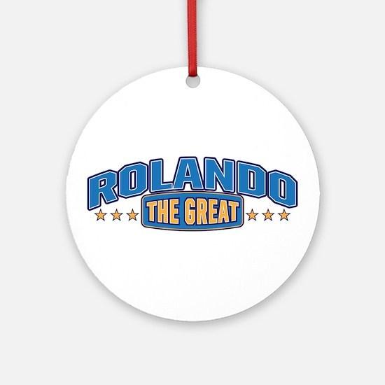 The Great Rolando Ornament (Round)