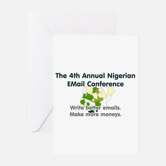 4th Annual Nigerian Email Con Greeting Cards (Pack