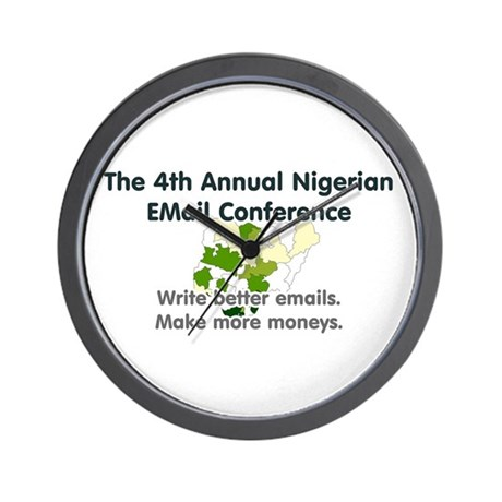 4th Annual Nigerian Email Con Wall Clock