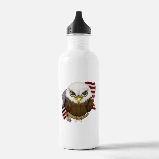 Cute Bald Eagle Water Bottle